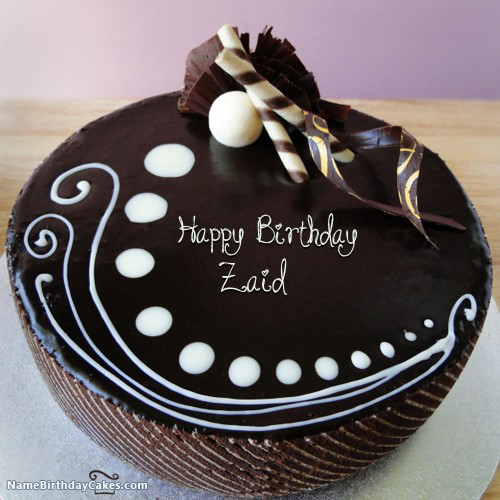 I have written zaid Name on Cakes and Wishes on this birthday wish
