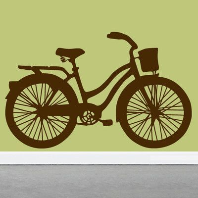 SweetumsWallDecals Vintage Cruiser Bike Wall Decal Color: Brown