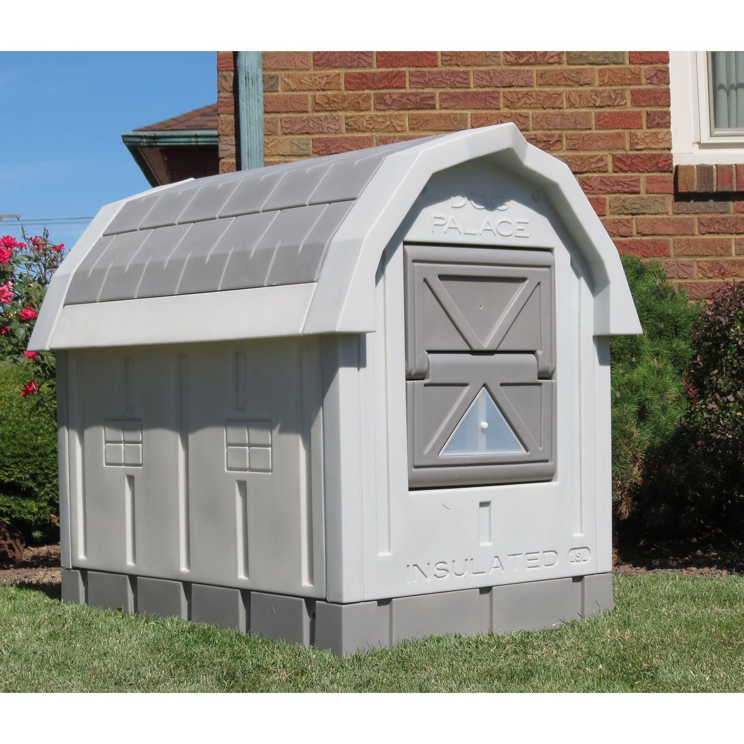 Asl Solutions Dog Palace For Med To Large Dogs Gray Check
