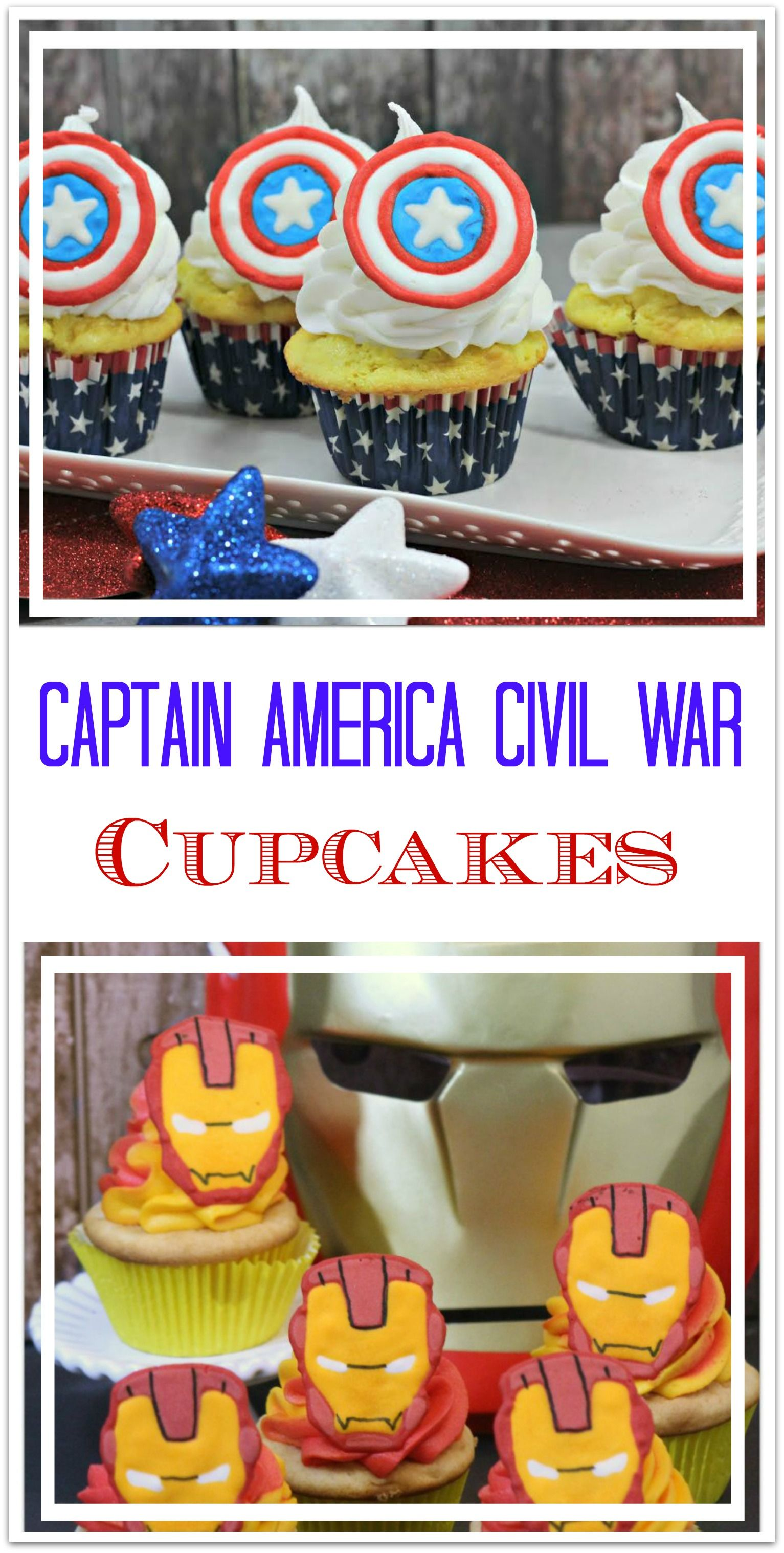 Captain America Civil War Cupcakes Are Perfect For A Movie