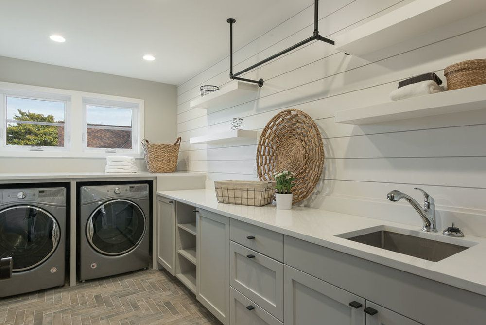 Luxurious Laundry Room Seattle Urban Farmhouse Staging By Www