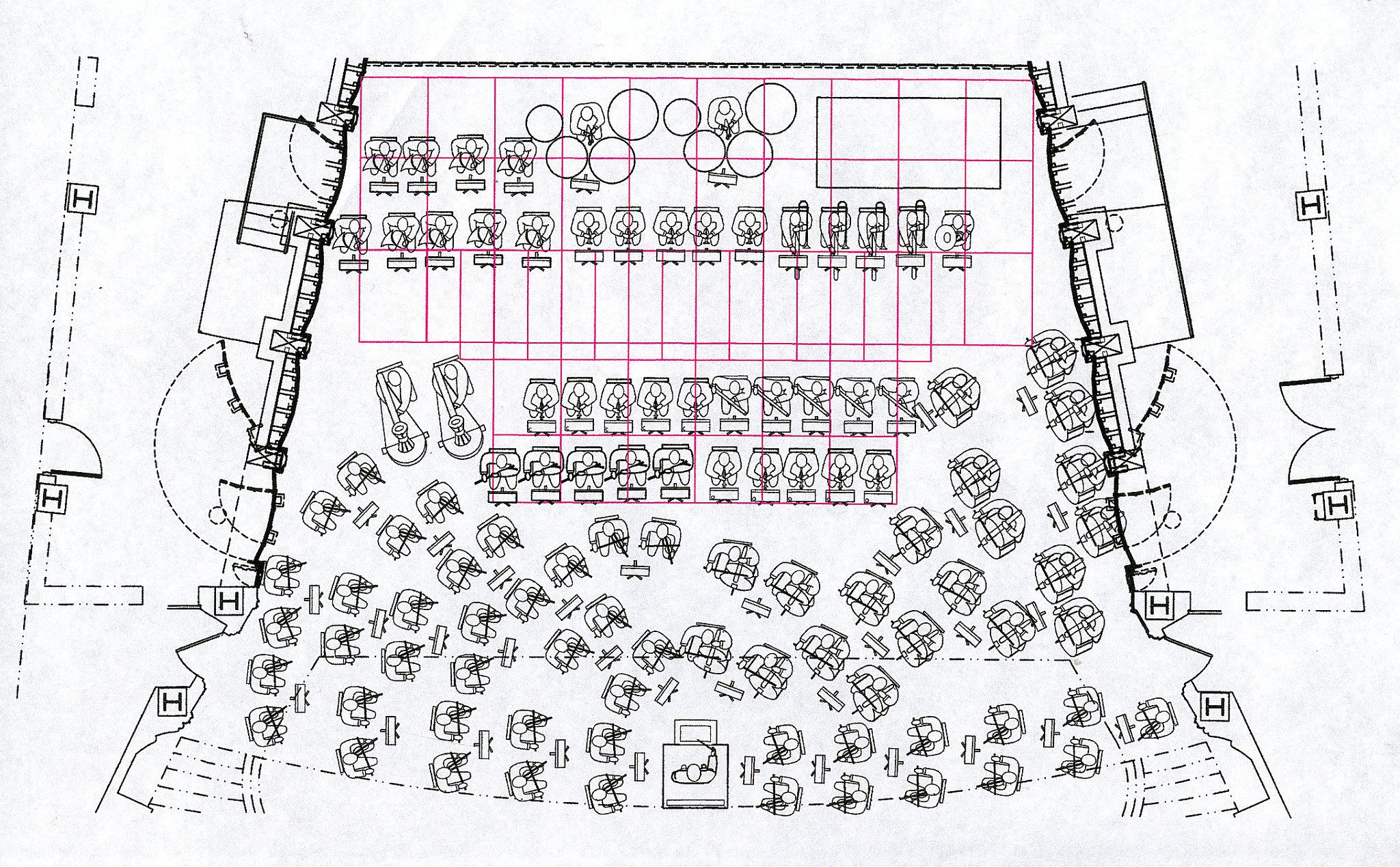 Severance Hall Stage SetUp Plan For A Performance Including