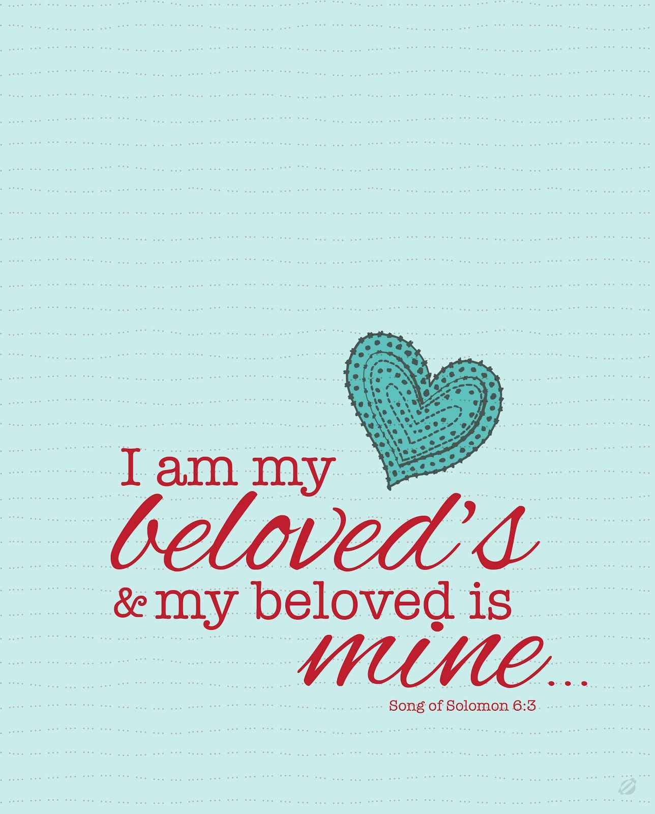 """Free """"Song Of Solomon"""" Printable...this Is The Verse That"""