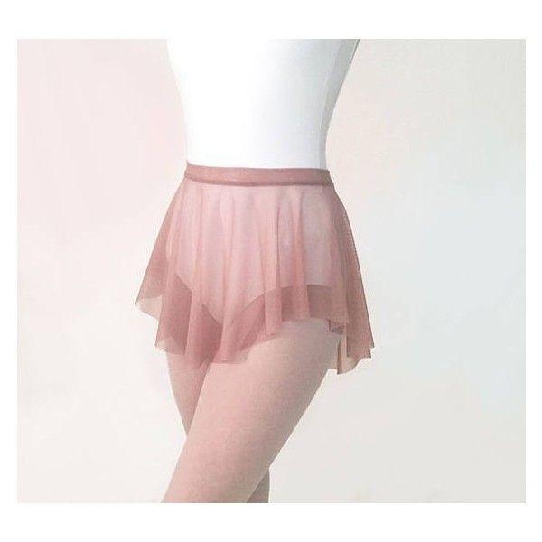 4b9094ac8 Ballet Skirt -Sheer Dusty Rose Mesh SAB skirt Royall Dancewear-... ❤ liked  on Polyvore featuring costumes, ballet halloween costumes, ballet costumes,  ...