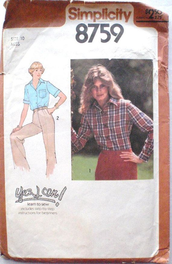 Simplicity 8759 - Women\'s Sewing Pattern - Yes I Can Learn To Sew ...