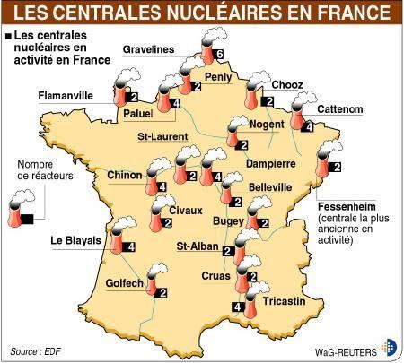 Les Centrales Nucleaires En France Clases De Frances Francia