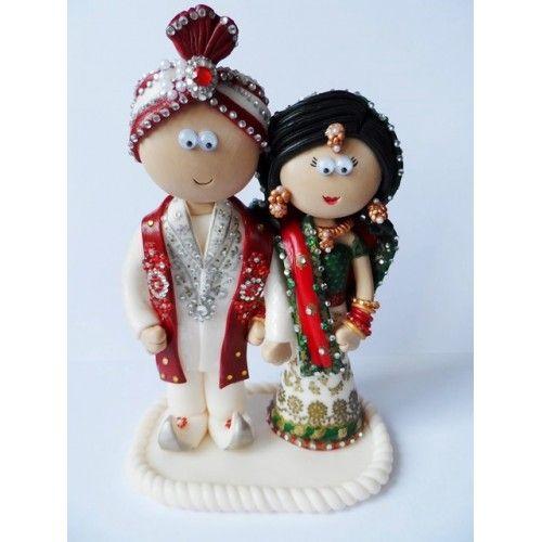 Indian wedding cake topper