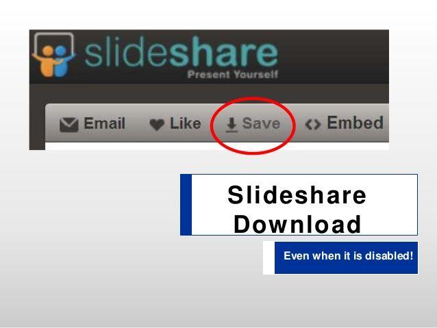 how to slideshare download hack