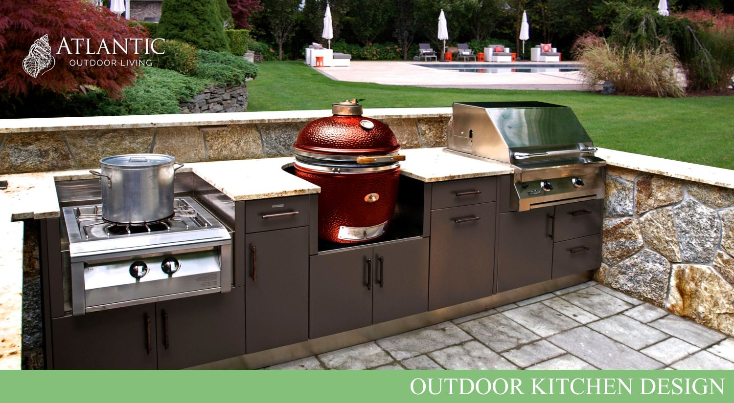 Attractive Outdoor Kitchen Designs With Roofs | Atlantic Outdoor Living Is Your Outdoor  Kitchen Design Center