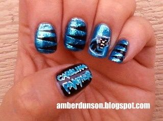 Carolina Panthers Jordan Would Love If I Got My Nails Done Like This Lol