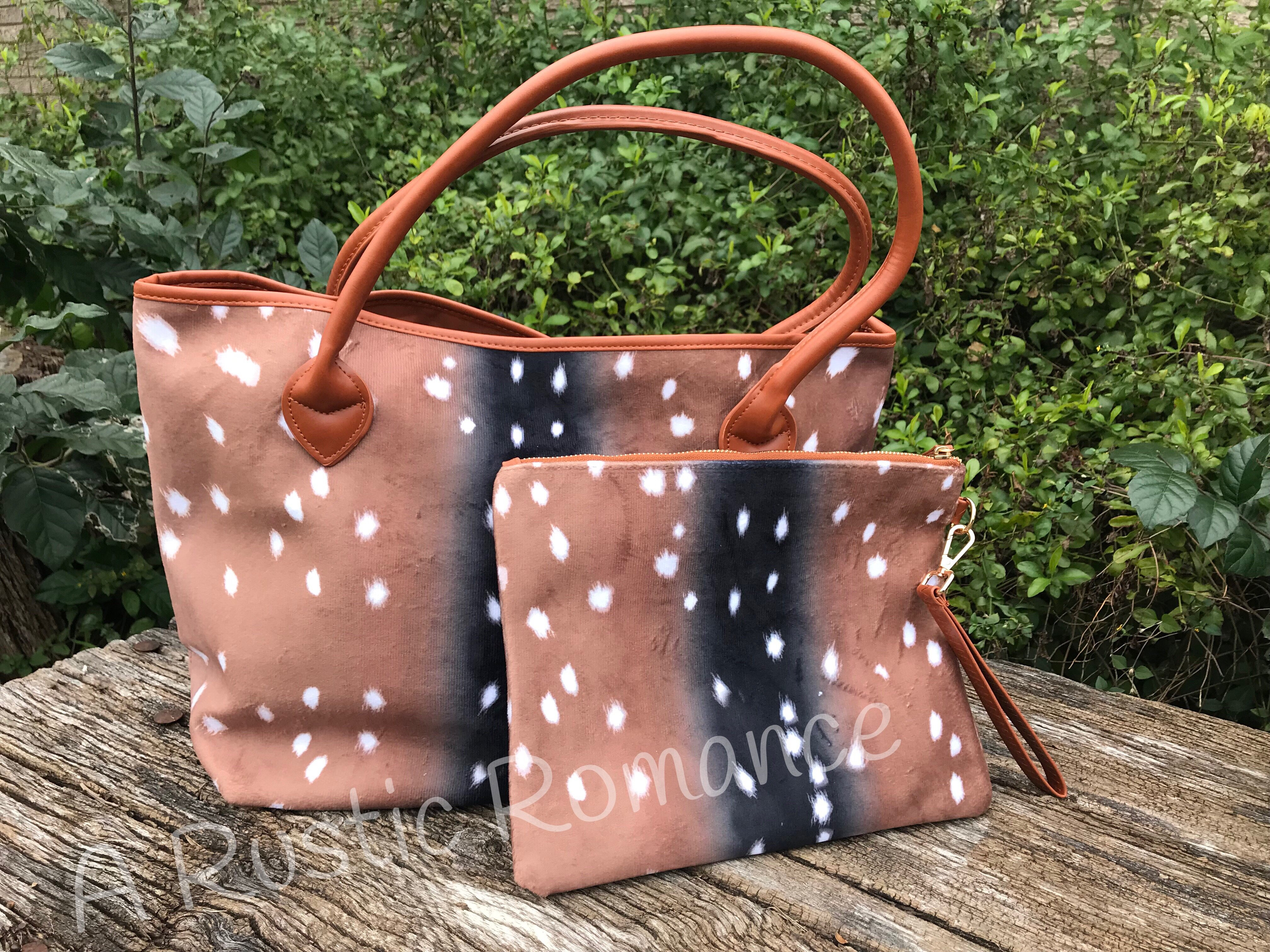 Axis Hide brown leather purse | brown leather bag Leopard and Cheetah Tote brown leather tote