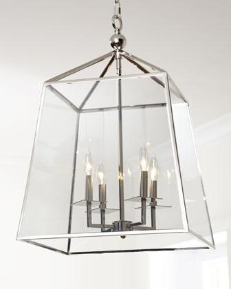 Lighting Regina Andrews Square Glass Chandelier Neiman Marcus Modern Steel And