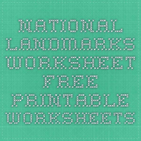 Unit 1 Week 6 Landmarks National Landmarks Worksheet - Free ...