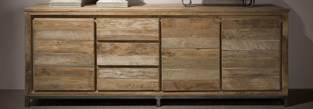 Serie houten meubels met ijzeren onderstellen!!!!  Torra Vita - Cialdella Collectie