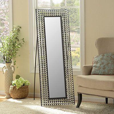Girls Bathroom Mirror Bling Cheval Floor Mirror Open Sides So It Won T