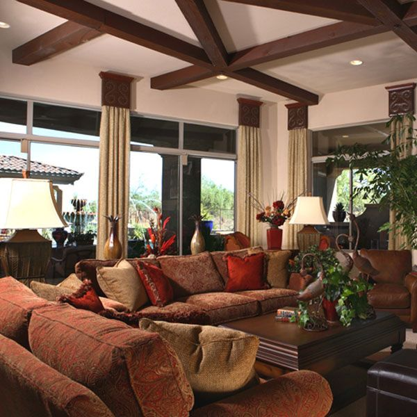 Spanish Style Decorating Ideas: Spanish Colonial Living Room In AZ