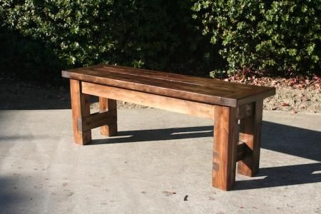 Farmhouse Bench Do It Yourself Home Projects From Ana White Farmhouse Bench Diy Rustic Dining Furniture Diy Bench