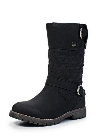 Сапоги Keddo черного цвета. Обувь выполнена из искусственного нубука, стелька и подкладка из искусственного меха. Детали: закругленный мыс, застежки на молнии, рельефная подошва, стеганое голенище. http://j.mp/1rEV6YW