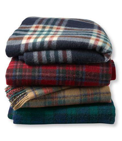 Ll Bean Washable Wool Throw