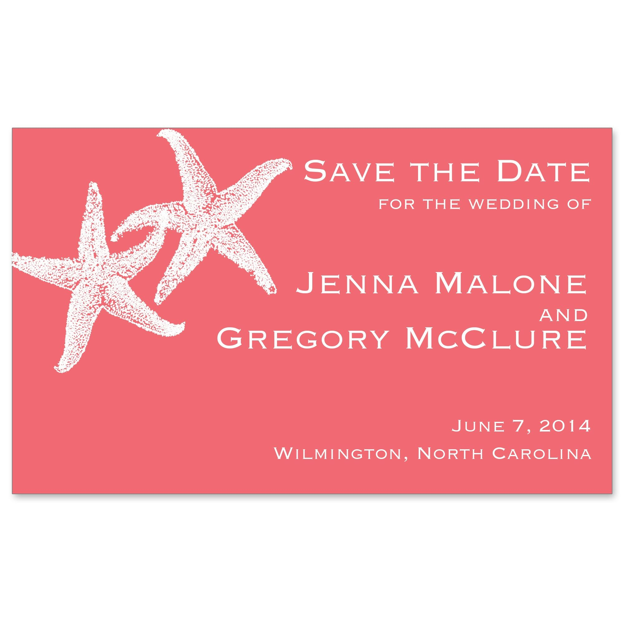 Imperial Starfish Save the Date Magnet | #exclusivelyweddings ...