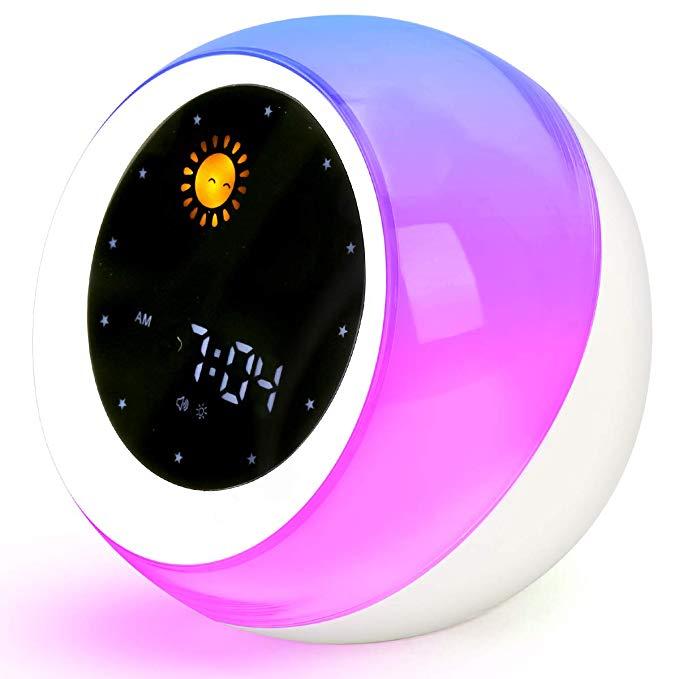 Code Sun Moon Rise Kids Alarm Clock