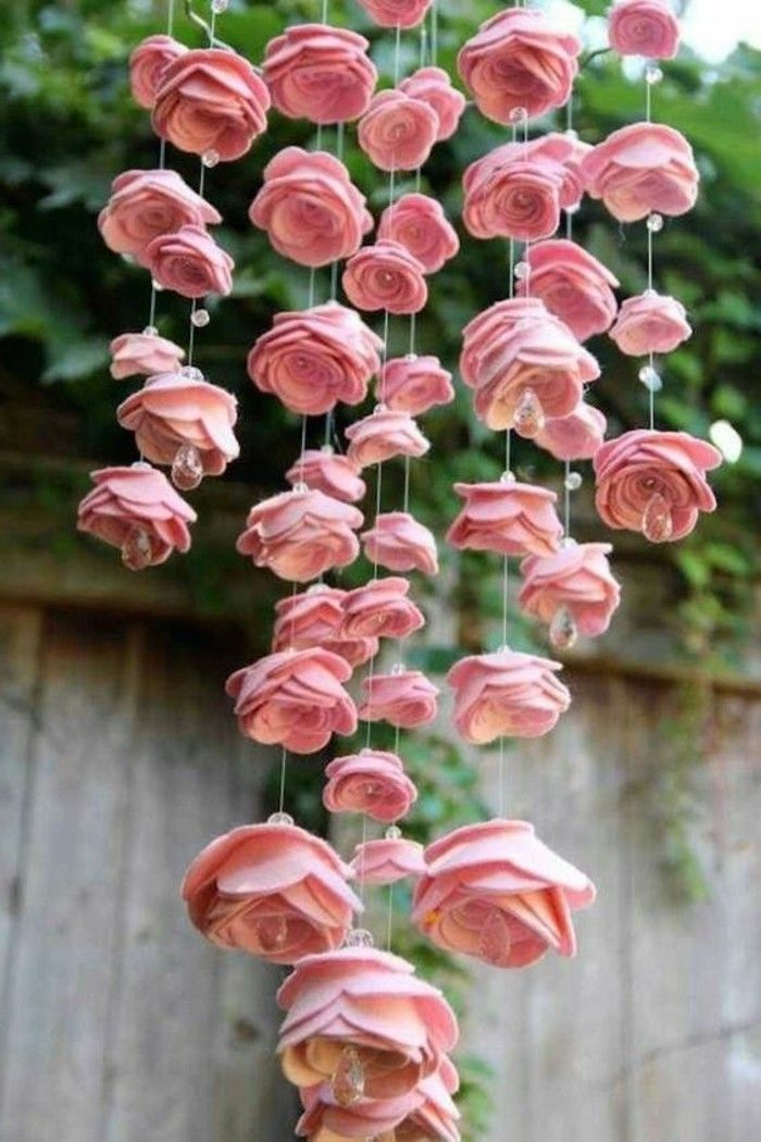 Blumen Selber Basteln   55 Ideen Für Kinder Und Erwachsene, Die Gern  Basteln | Flower Chandelier, Shabby Vintage And Origami