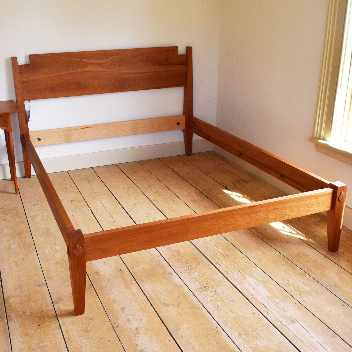 Handcrafted shaker low post bed woodworking pinterest for Shaker bed plans
