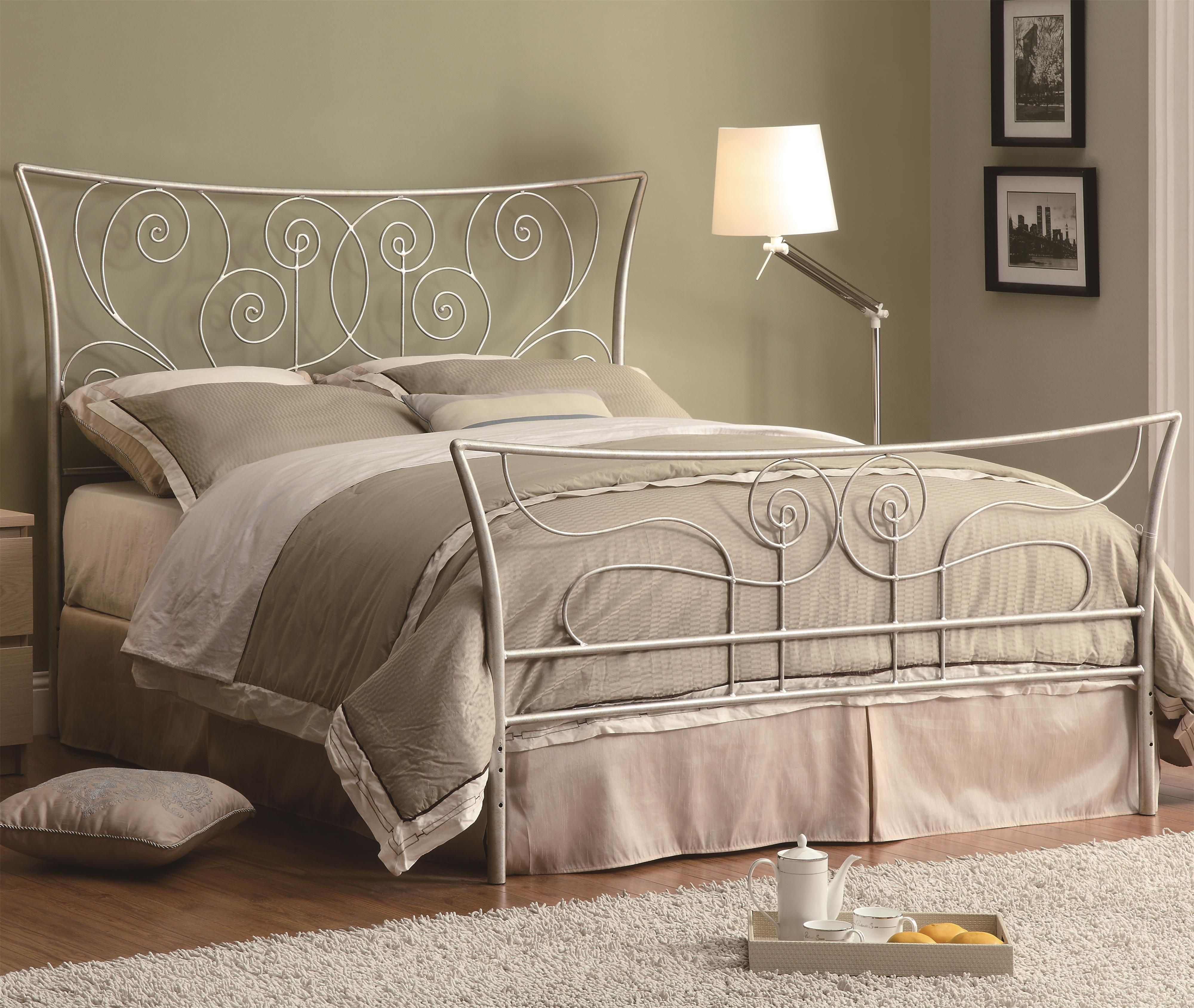 Iron Beds and Headboards Queen Bed by Coaster