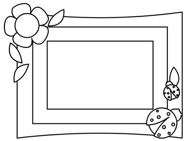Flower Picture Frame Coloring Page Jpg 667 488 Coloring Pages Mothers Day Coloring Pages Heart Coloring Pages