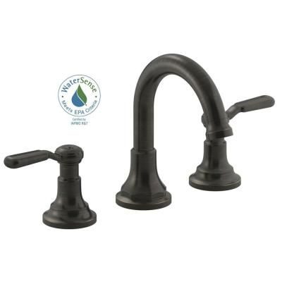 kohler worth 8 in. 2-handle widespread bathroom faucet in oil
