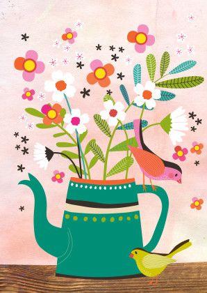 Bloemen kaartje in mijn Kaartje2go shop - Tjarda Borsboom