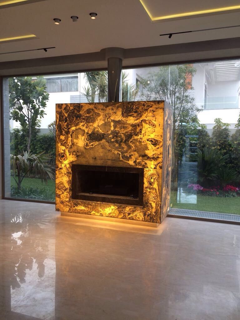 Immissionsschutz Offener Kamin A Fireplace Made With Slate Lite The Paperthin Real Stone Veneer