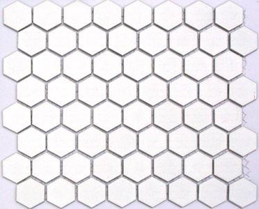 Lyric 1 5 Inch Glazed Porcelain Hex Tile In Seek White Gloss
