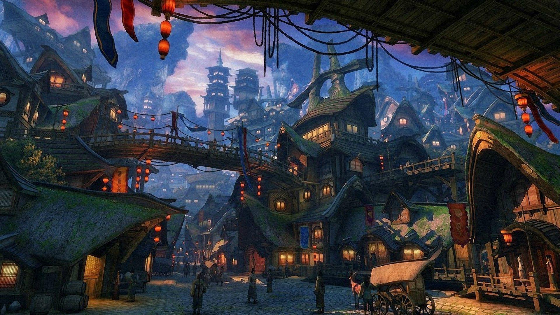 ancient china town anime Google Search 1080p, Cenario