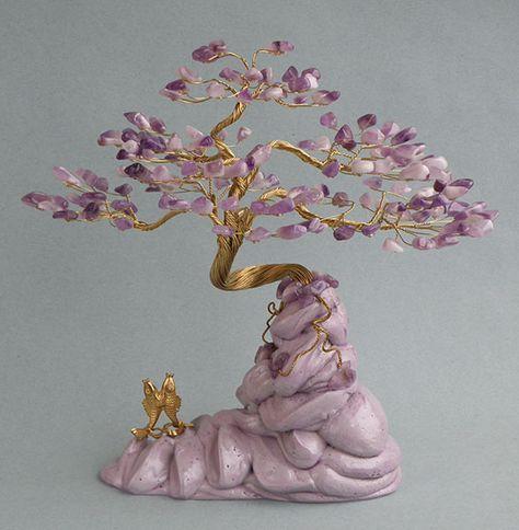 Дерево счастья из камней - Бонсай Горный большой (S-150) с ...