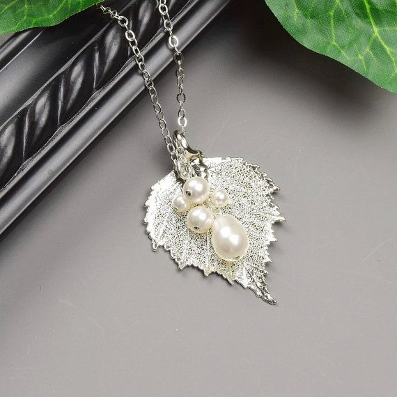 Hey i found this really awesome etsy listing at httpsetsy sterling silver leaf necklace real leaf by mydistinctdesigns mozeypictures
