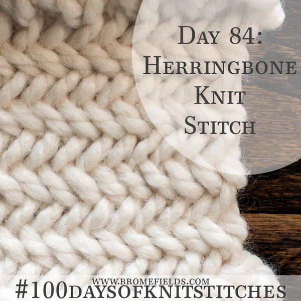 How To Knit The Herringbone Knit Stitch Pdf Video Knitting