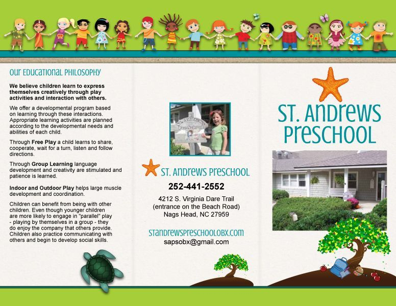 St Andrews Preschool Trifold Brochure    Marketing Inspiration