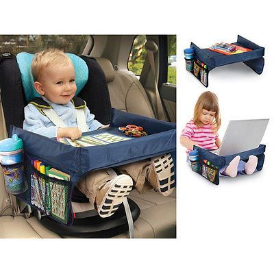 safety waterproof snack baby car seat table kids play travel tray drawing board in baby