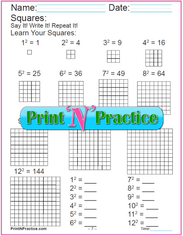 18 Exponent Worksheets For Practice | Worksheets, Printable maths ...