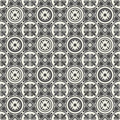 Sol Vinyle Carreaux De Ciment Noir Et Blanc Carreaux De Ciment Noir Et Blanc Sol Vinyle Sol Pvc