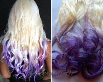 White blonde and purple two colors ombre hair extensions indian white blonde and purple two colors ombre hair extensions indian remy cip in straight pmusecretfo Choice Image