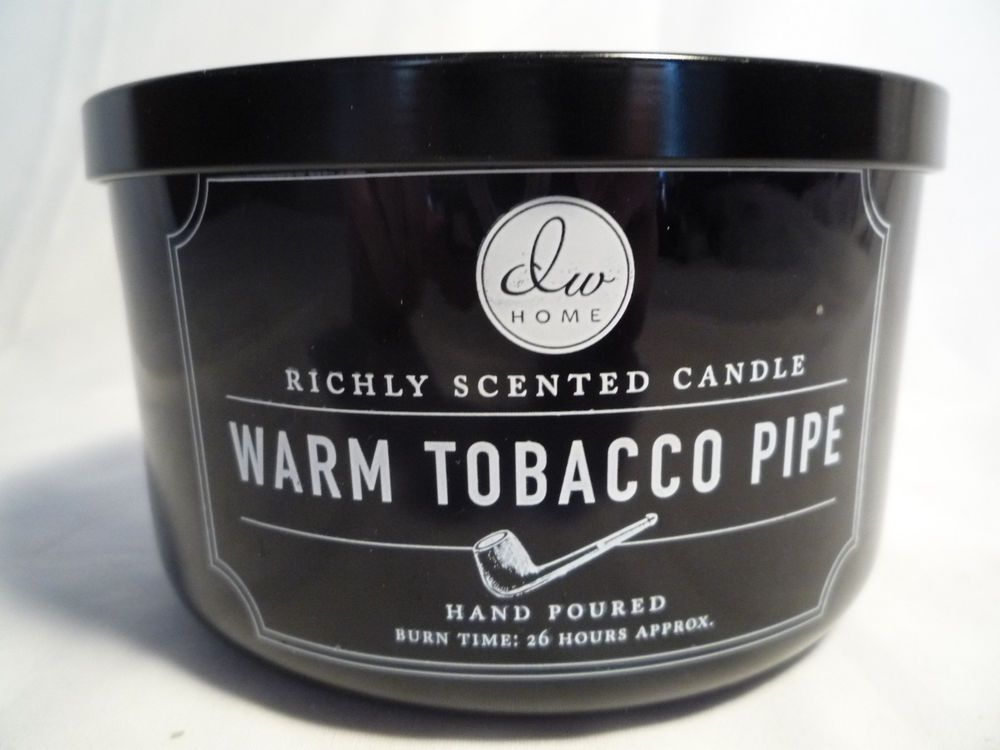 "Dw home ""warm tobacco pipe"" fragrant 3-wick scented candle ..."