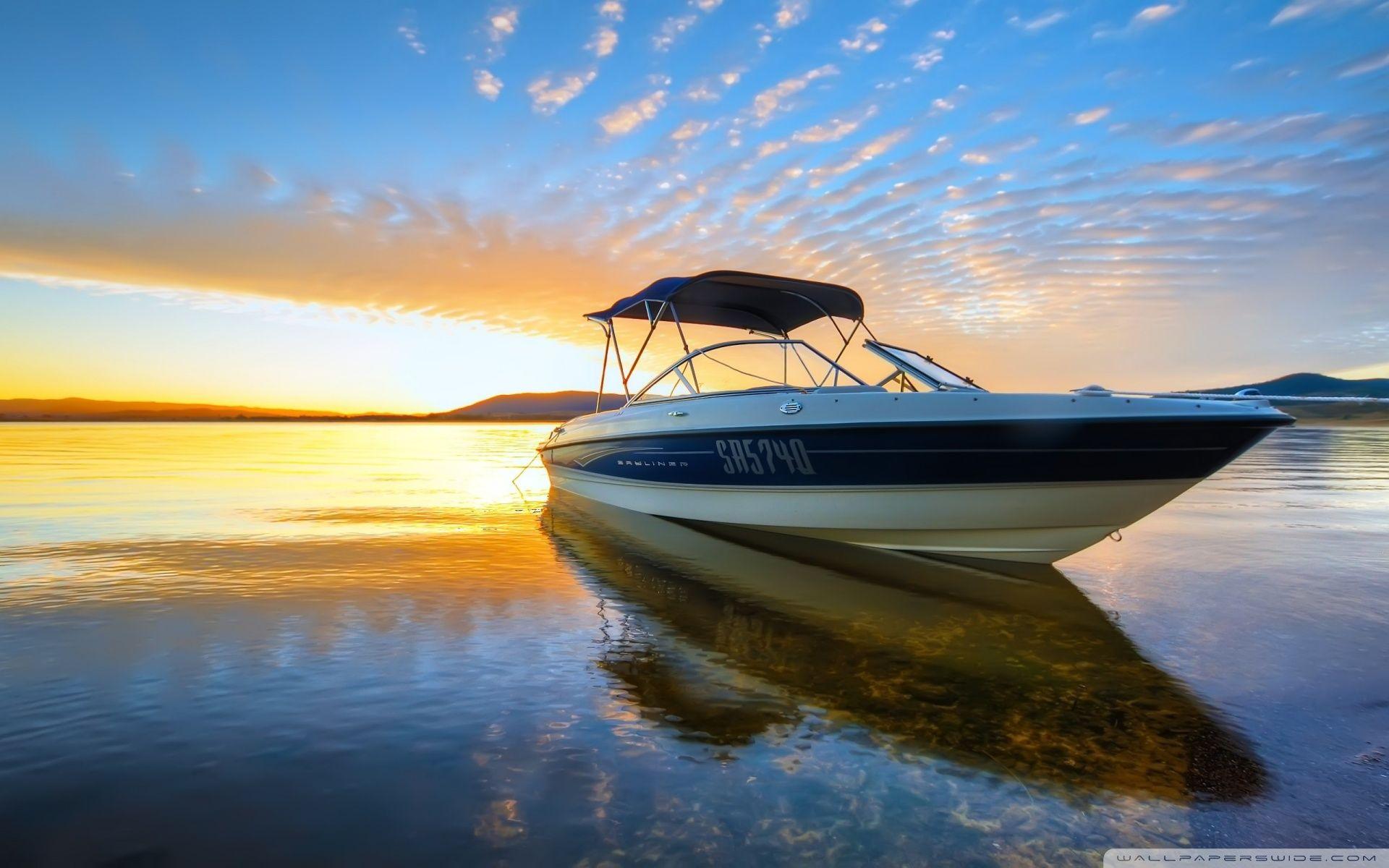Speed Motor Boat Hd Desktop Wallpaper High Definition With