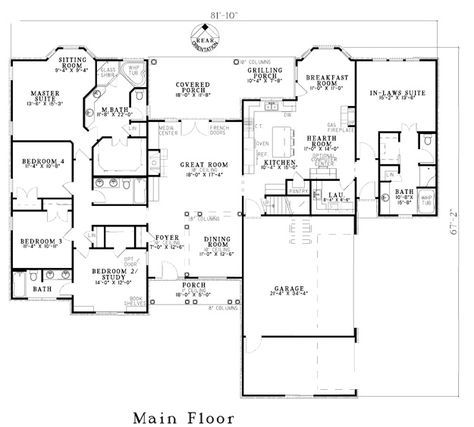 House Plans Home Plans And Floor Plans From Ultimate Plans Like The In Law Suite Family House Plans Dream House Plans House Floor Plans