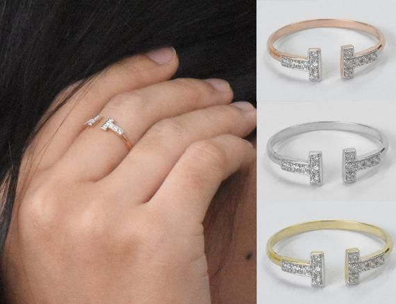 Two Bar Diamond Ring | Double Bar Ring | T Bar Diamond Ring | 14k Gold Bar Ring | Stacking Ring | Minimalist Ring Engagement Ring.Brilliant Diamond Ring in 14k, 18k Solid gold featured with natural white sparkly diamond Handset by a master setter in our studio.★★★   Details:-  ★★★Gold:- 14k 18k Solid Gold✨.Gold Color :- Rose Gold / yellow gold / white goldTop Width:- 5 mm.Thickness of Band :- 1.5 mmDiamond Cut💎 :- Round.Total CTW :- 0.10 ctw.Number of Diamonds:- 12 Pcs.Diamond Size:-  1.2 mm.Di