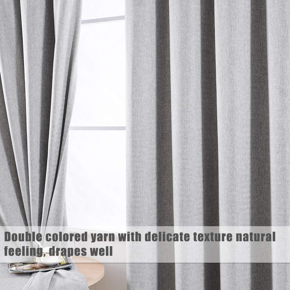 Grali Light Gray Grommet Curtains Zigzag Pattern Panels For Living Room Kid S Room Room Darkening Drapes 84 Long 51 Wide 2 Panels In 2020 Cool Curtains Curtain Texture Darkening Drapes