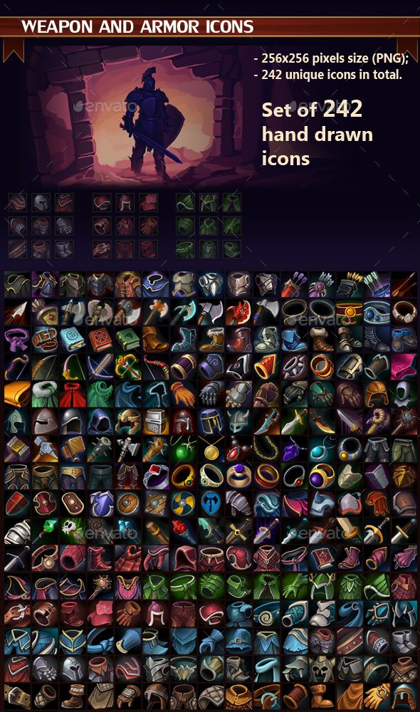 Weapon and Armor Icon Pack Download here https