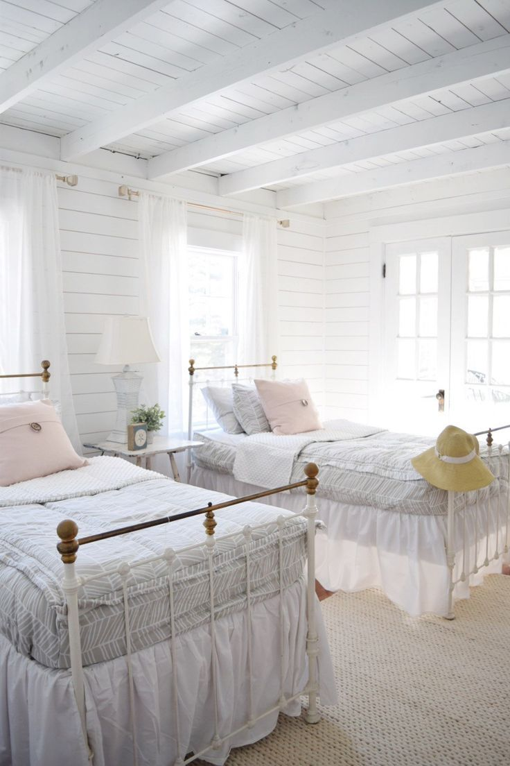 Beach House Before & After Girls Room with Beddy's Bedding! - Gratefully Vintage