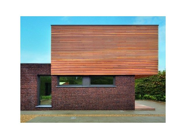Bardage en bois • maison moderne • cube • www.dewaele.be/fr ...
